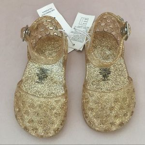 Gold Jelly Baby Toddler Sandal NWT